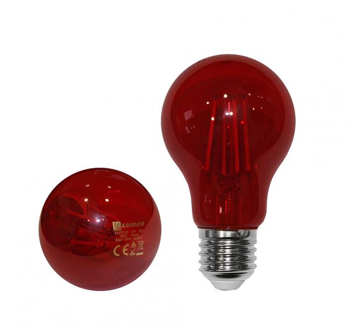 ΛΑΜΠΑ LED A60 E27 6W 230V KOKKINO FILAMENT