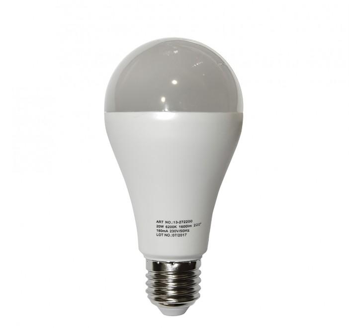 ΛΑΜΠΑ LED A65 Ε27 20W 1800lm 230V 6200K