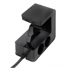 LEGRAND ΠΟΛΥΠΡΙΖΟ 4 ΣΟΥΚΟ 2 USB ΜΕ ΚΑΛΩΔΙΟ 1,5m ΜΑΥΡΟ 694812