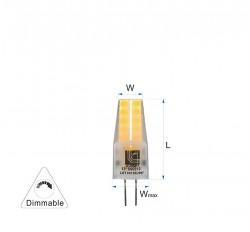 ΛΑΜΠΑ LED G4 3W 300lm 12V 4000K DIMMABLE