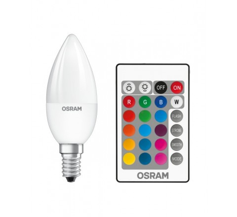 LEDVANCE OSRAM ΛΑΜΠΑ LED ΚΕΡΑΚΙ FROSTED B25 E14 4,5W 250lm 2700K RETROFIT RGBW ΜΕ ΤΗΛΕΧΕΙΡΙΣΤΗΡΙΟ 045736