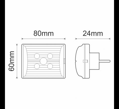 OLYMPIA ELECTRONICS ΦΩΤΙΣΤΙΚΟ ΑΣΦΑΛΕΙΑΣ LED GR-11 3h 5 LEDS