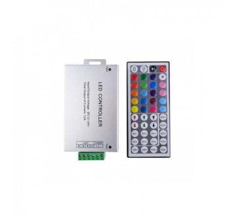 FOS_ME Τηλεχειριστήριο Controller για ταινίες LED RGB 12A 24-00111