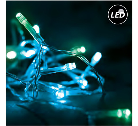 FOS-ME ΧΡΙΣΤΟΥΓΕΝΝΙΑΤΙΚΑ 200 ΛΑΜΠΑΚΙΑ LED CLUSTER ME CONTROLLER 20m 27-00312