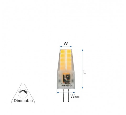ΛΑΜΠΑ LED G4 3W 300lm 12V 4000K DIMMABLE