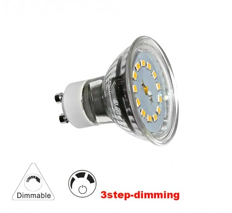 ΛΑΜΠΑ LED GU10 5W 480lm 230V 3000K DIMMABLE