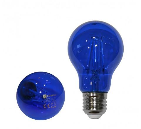 ΛΑΜΠΑ LED A60 E27 6W 230V ΜΠΛΕ FILAMENT