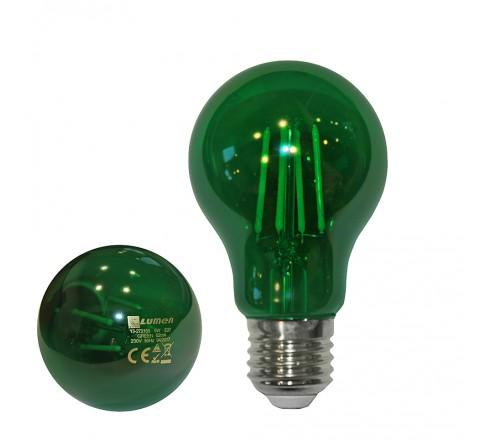 ΛΑΜΠΑ LED A60 E27 6W 230V ΠΡΑΣΙΝΟ FILAMENT