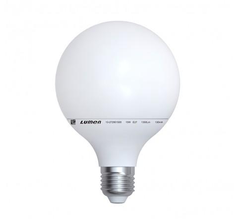 ΛΑΜΠΑ LED ΓΛΟΜΠΟΣ Φ95 E27 15W 1350lm 230V 3000K