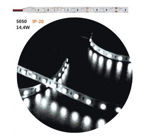 ΤΑΙΝΙΑ LED ΑΥΤΟΚΟΛΛΗΤΗ 14,4W/m 12V ΙΡ20 ΨΥΧΡO ΦΩΣ