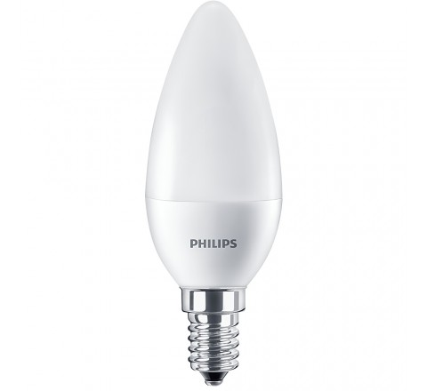PHILIPS ΛΑΜΠΑ LED ΚΕΡΙ 7-60W 830lm Β38 Ε14 4000K 703052