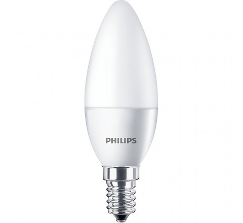 PHILIPS ΛΑΜΠΑ LED ΚΕΡΙ 5,5-40W 470lm B35 Ε14 2700K 762386